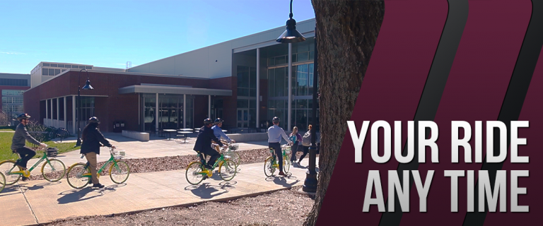 The EKU President's Council take LimeBikes for a test spin.